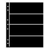 Prinz Hagner Style Single-Sided Stocksheet 4 Rows