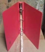 3-Ring Sales Sheet Binder in Red